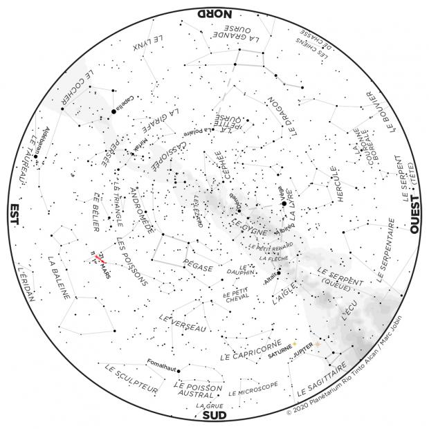 Ciel du mois - carte septembre 2020