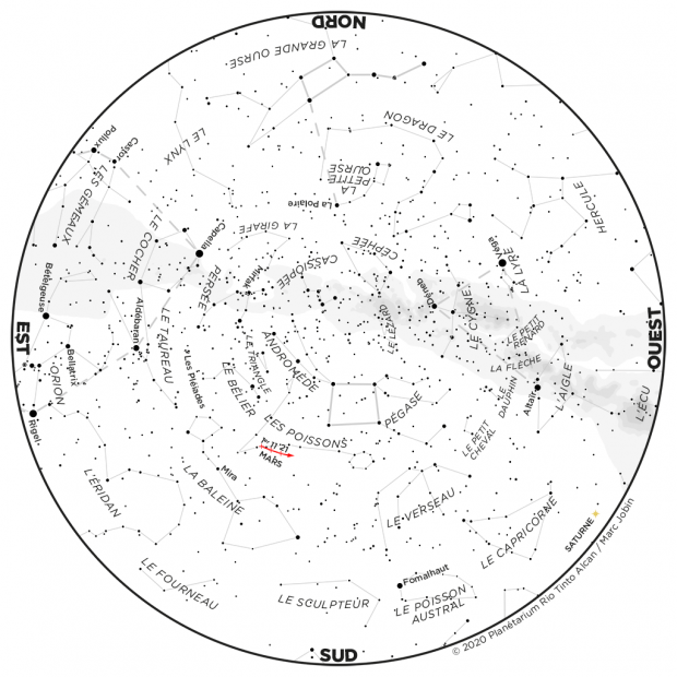 Ciel du mois - carte octobre 2020