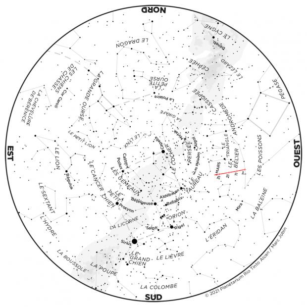 Ciel du mois - carte janvier 2021