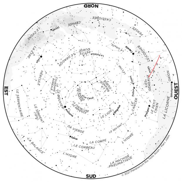 Ciel du mois - carte avril 2021