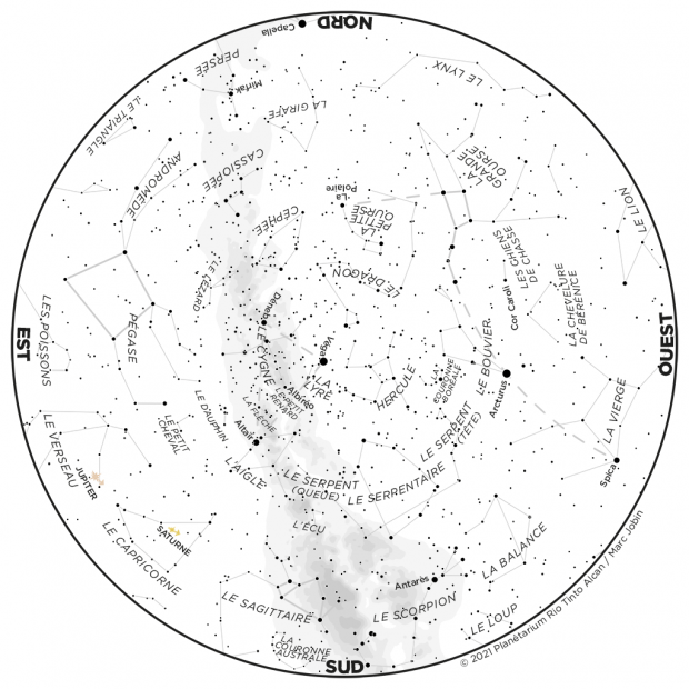 Ciel du mois - carte juillet 2021