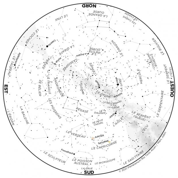Ciel du mois - carte septembre 2021