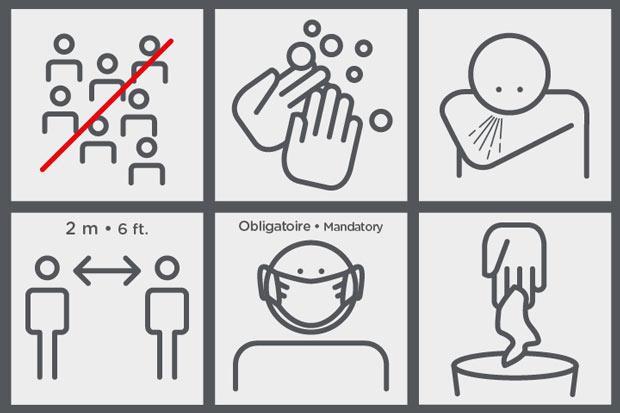 Consignes - pictograms