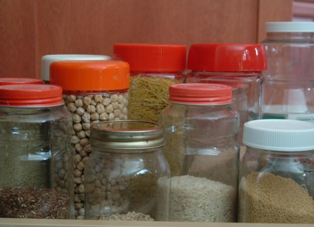 Airtight containers.
