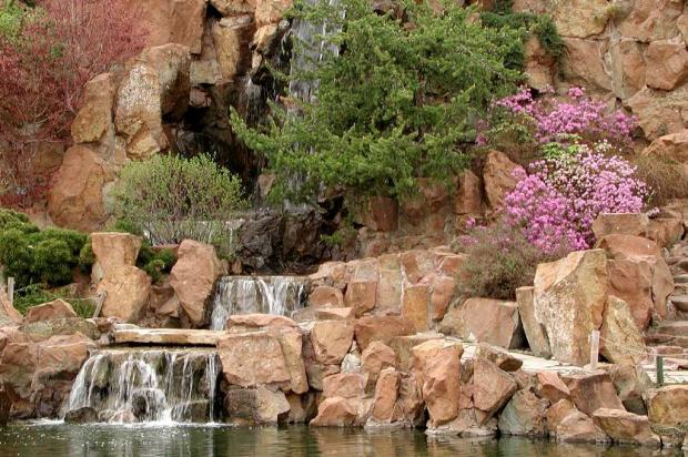 Three elements of a traditional Chinese garden
