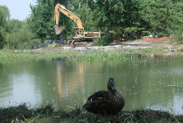 Construction du Jardin des Premières-Nations