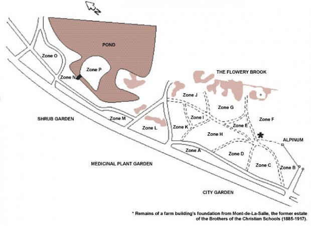 Map of the lilac collection