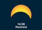 August 21, 2017 Solar Eclipse - Maximum in Montreal