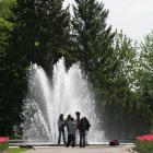 Visitors in the Reception Gardens at the Montréal Botanical Garden
