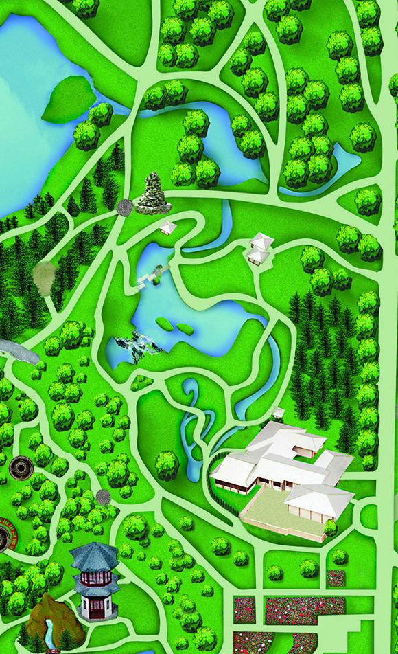 Japanese Garden. Map. map